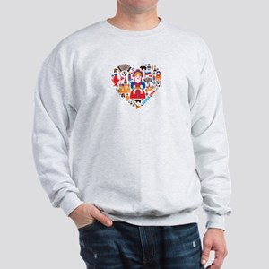 Russia World Cup 2014 Heart Sweatshirt